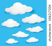 Cartoon  Clouds. Illustration...