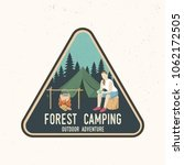forest camping extreme... | Shutterstock .eps vector #1062172505