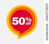50  off discount sticker. sale... | Shutterstock .eps vector #1062173015
