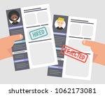 looking for an employee.... | Shutterstock .eps vector #1062173081