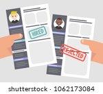 looking for an employee.... | Shutterstock .eps vector #1062173084