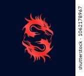 dragon logo template | Shutterstock .eps vector #1062178967