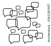 set of speech bubbles   Shutterstock .eps vector #1062181907