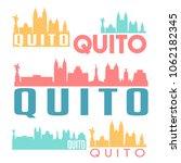 quito ecuador flat icon skyline ... | Shutterstock .eps vector #1062182345