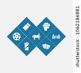 set of 7 amusement icons set....   Shutterstock .eps vector #1062186881