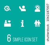 set of 6 backing icons set.... | Shutterstock . vector #1062187007