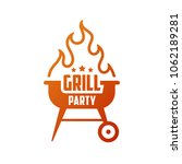grill party. barbecue emblem ... | Shutterstock .eps vector #1062189281