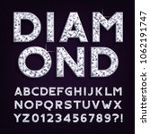 diamond alphabet font. luxury... | Shutterstock .eps vector #1062191747