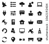 flat vector icon set   notebook ... | Shutterstock .eps vector #1062192404