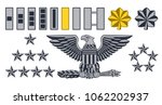 set of military american army... | Shutterstock .eps vector #1062202937