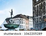 old town buildings in aachen ... | Shutterstock . vector #1062205289