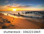 sunset ovet the baltic sea... | Shutterstock . vector #1062211865