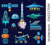 rocket vector spaceship or... | Shutterstock .eps vector #1062217034