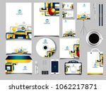 corporate identity business set | Shutterstock .eps vector #1062217871
