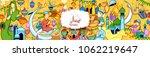 illustration of eid mubarak ... | Shutterstock .eps vector #1062219647