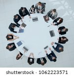 view from the top.meeting... | Shutterstock . vector #1062223571