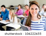 female college student in a... | Shutterstock . vector #106222655