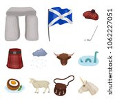 country scotland cartoon icons... | Shutterstock .eps vector #1062227051