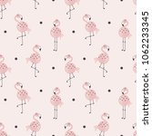 pink flamingo pattern  safari...   Shutterstock .eps vector #1062233345