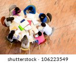 study group with young people...   Shutterstock . vector #106223549