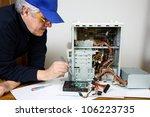 electrician | Shutterstock . vector #106223735