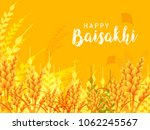 illustration of happy baisakhi... | Shutterstock .eps vector #1062245567