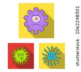 types of funny microbes flat... | Shutterstock .eps vector #1062248501
