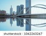 tianjin city waterfront... | Shutterstock . vector #1062263267