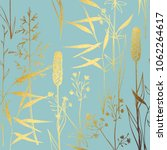 a pattern with wildflowers with ... | Shutterstock .eps vector #1062264617