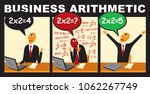 vector comic with a businessman ... | Shutterstock .eps vector #1062267749