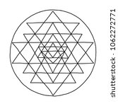 sacred geometry and alchemy... | Shutterstock .eps vector #1062272771