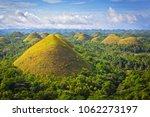 chocolate hills   bohol island  ...   Shutterstock . vector #1062273197