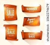 summer sales on shining... | Shutterstock .eps vector #1062274679
