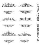 vintage vector swirl frame set | Shutterstock .eps vector #1062276194