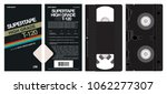 vhs tape and box vector   Shutterstock .eps vector #1062277307