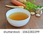 clear beef broth  bone broth ... | Shutterstock . vector #1062282299