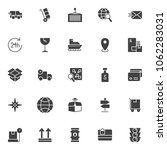 logistic universal vector icons ... | Shutterstock .eps vector #1062283031