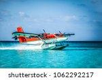 Landing Seaplane In The Ocean...