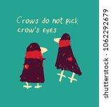 crow birds poster card sign.   Shutterstock .eps vector #1062292679
