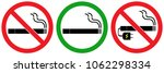 set no sign smoking area vaping ... | Shutterstock .eps vector #1062298334