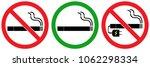 set no sign smoking area vaping ... | Shutterstock .eps vector #1062298334