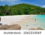 praslin  seychelles   jun 29 ... | Shutterstock . vector #1062314069