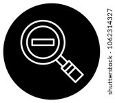magnifying glass minus icon....   Shutterstock .eps vector #1062314327