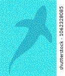 silhouette of shark or dolphin... | Shutterstock .eps vector #1062328085
