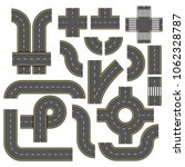 road elements. collection of... | Shutterstock .eps vector #1062328787