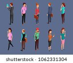 different office people... | Shutterstock . vector #1062331304
