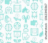 hospital seamless pattern with... | Shutterstock .eps vector #1062340367