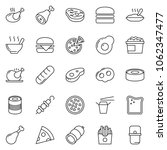 thin line icon set   sausage... | Shutterstock .eps vector #1062347477
