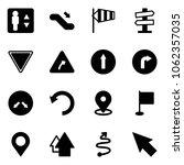 solid vector icon set  ... | Shutterstock .eps vector #1062357035