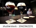 glass of belgian leffe beer in ...   Shutterstock . vector #1062362231